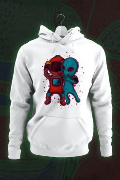 Alien and astronaut hoodie