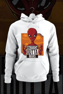 Straight outta mars red alie hoodie