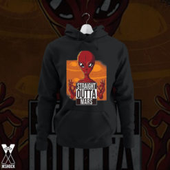 Straight outta mars red alien hoodie